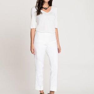 Nic + Zoe white Perfect Pant Side Zip Ankle Pants